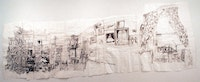 <i>View from Bed</i>, 2003, ballpoint pen ink on paper, 73.5 x 164 inches. The Judith Rothschild Foundation Contemporary Drawings Collection Gift, MoMA, New York City. Image courtesy the artist and Pierogi.
