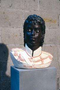 Ida Applebroog <i>Yes. Thank you. I am Fine.</i>, 2003 Painted plaster statue, 16 x 13 x 17 1/2 inches Photo: Zindman / Fremont