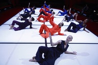 The Bill T. Jones/Arnie Zane Dance Company performing Chapel/Chapter.  Photo by Paul B. Goode.
