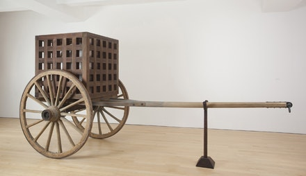 "Martin Puryear, ""The Load,"" 2012. Wood, steel, glass. 91 x 185 x 74"". © Martin Puryear. Courtesy McKee Gallery, New York."