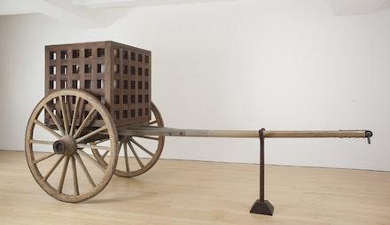 "Martin Puryear, ""The Load,"" 2012. Wood, steel, glass. 91 x 185 x 74"". © Martin Puryear. Courtesy McKee Gallery, New York."