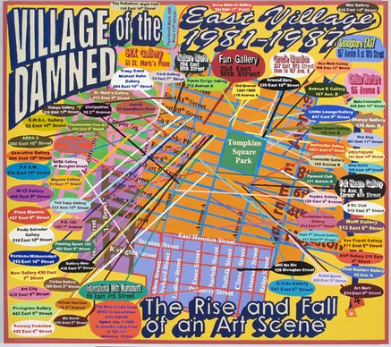 "Loren Munk, ""Village of the Damned"" (2004-2005). Oil on linen, 60 x 72""."