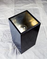 "Alighiero Boetti, ""Lampada annuale,"" 1966. Lacquered wood, metal, glass, electrical device. 29 15/16 x 14 9/16 x 14 9/16"". Private collection. © 2012 Estate of Alighiero Boetti / Artists Rights Society (ARS), New York / SIAE, Rome."