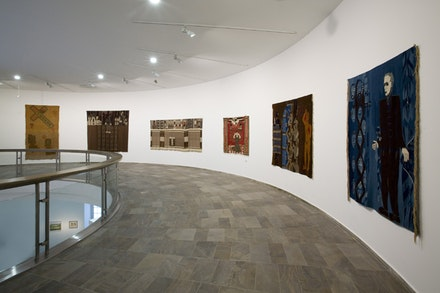 "Hannah Ryggen, ""Drommedod (Death of Dreams / Tod der Träume),"" 1936. Wool and linen, 225 x 272 cm. Nordenfjeldske Kunstindustrimuseum, Trondheim. Photo: Roman März."
