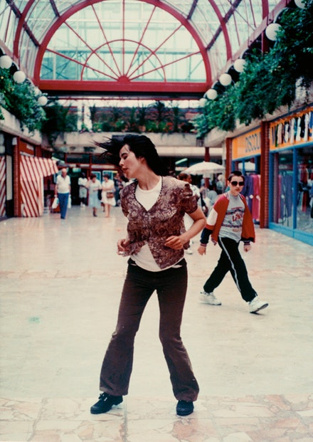 "Gillian Wearing, ""Dancing in Peckham,"" 1994. Color video with sound. 25 minutes. © the artist, courtesy Maureen Paley, London."