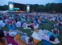 Concerts in the Parks: The New York Philharmonic performing in Prospect Park, Brooklyn. Photo: Chris Lee.