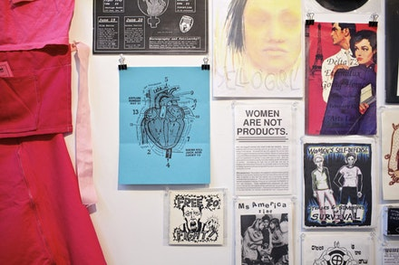 Installation of <i>We Riot to Sound of Our Own Desire: Punk Feminisms 1970s - Now</i>. Photos by Andrew Hinderaker.