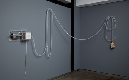 "Rafael Lozano-Hemmer, ""Last Breath,"" 2012. Installation view at bitforms gallery. Photo: John Berens."