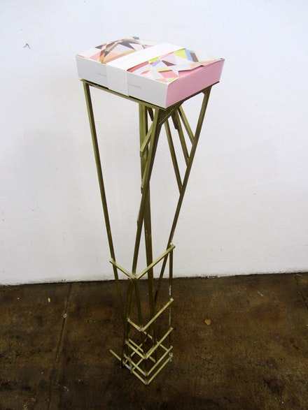 "Awkward x 2, ""Chocolate box and stand,"" 2011."