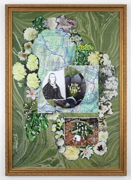 "Peter Lamborn Wilson, ""Pang Yang & the Publick Universal Friend"" (2010). Mixed media and collage on board."