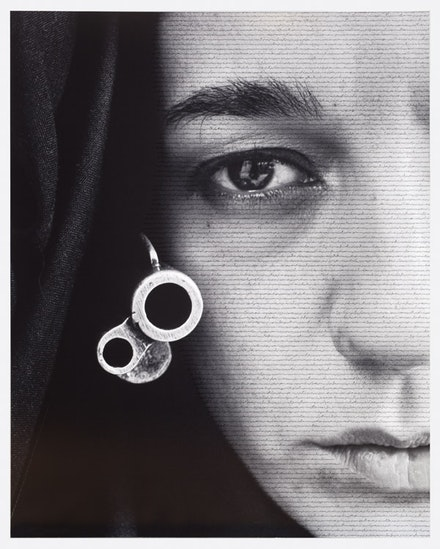 "Shirin Neshat, ""Speechless,"" 1996. RC print and ink. Copyright Shirin Neshat. Courtesy Gladstone Gallery, New York and Brussels."