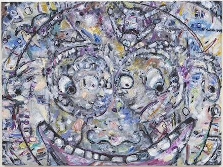 "Ellen Gronemeyer, ""Funkuchen,"" 2012. Oil on canvas. 23.6 x 31.5"". Image courtesy Kimmerich, New York, NY. Photo: Thomas Müller."