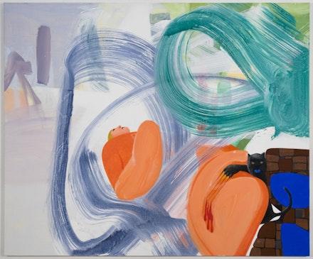 """Scratcher,"" 2008-2012. Acrylic on canvas. 60 x 72"". Courtesy of Fredericks & Freiser."