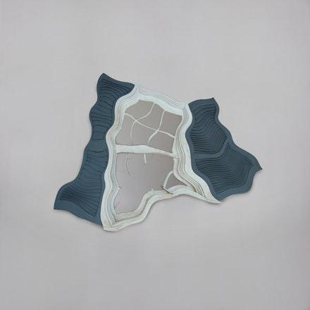 "Robert Lazzarini, ""Window,"" 2012. Wood, glass, paint. 48 x 40 x 8"". Image courtesy of Nadine Johnson & Associates."