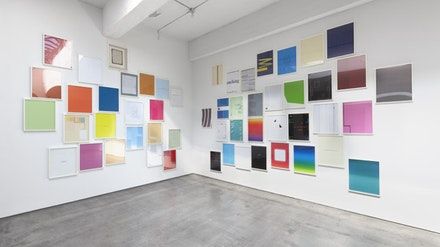Installation view from Walid Raad and David Diao, Paula Cooper Gallery, New York (September 22 –October 27, 2012). © Walid Raad and David Diao. Courtesy Paula Cooper Gallery, New York.