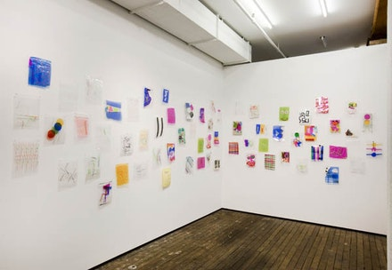Brian Bellot, Installation Shot. Laminated Drawings, 2012. Photo Credit: ©Adam Reich. Courtesy of Zürcher Studio, New York.