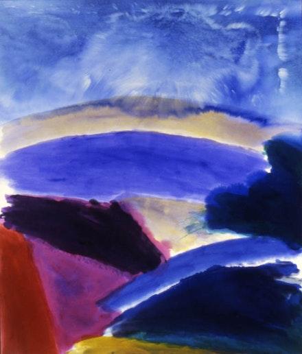 "Ronnie Landfield, ""Bluebird,"" 2000. 89 x 76"", acrylic on canvas. Image courtesy of the artist."