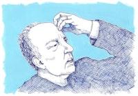 Werner Herzog. Drawing: Megan Piontkowski.