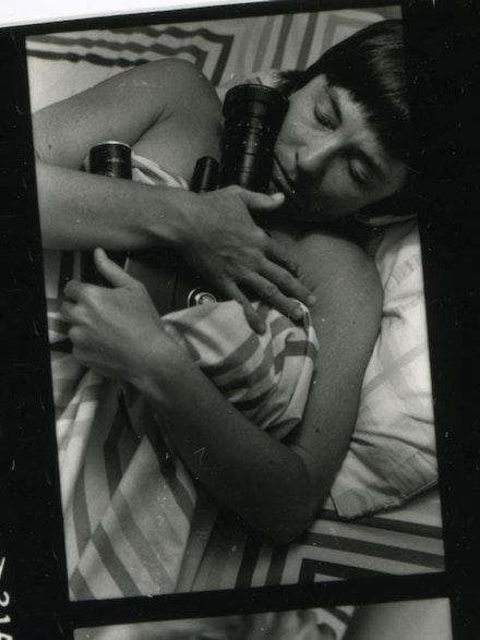 Barbara Hammer, production stills from <i>Sync Touch</i>, (1980).