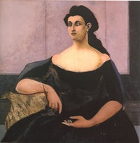 "John Graham, ""Marya (Donna Ferrita, Pensive Lady)"" (1944), oil on canvas"