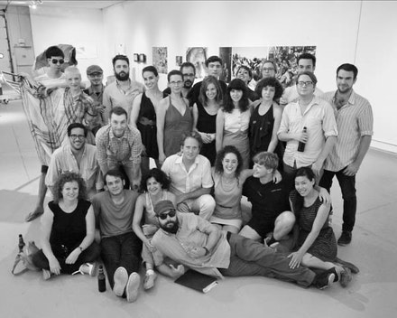 Third Year M.F.A. students, Summer 2011; Adam Marnie, standing, front row, right; Dawn Cerney, standing, back row, second from right. Photo: Pete Mauney.