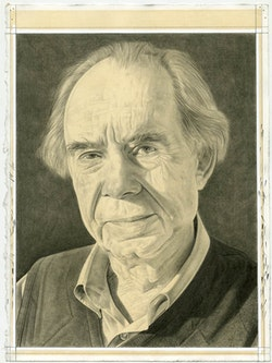 Portrait of Irving Sandler. Pencil on paper by Phong Bui.