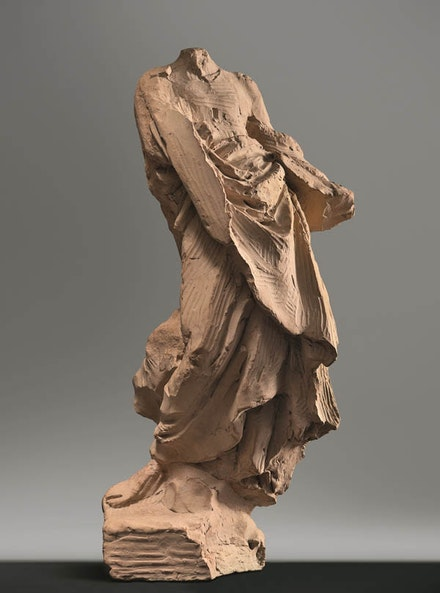 "Gian Lorenzo Bernini, ""Saint with Book,"" Ca. 1647 or ca. 1659-60. Terracotta. 11 1/16 x 5 3/8"". Museo di Roma, Rome."