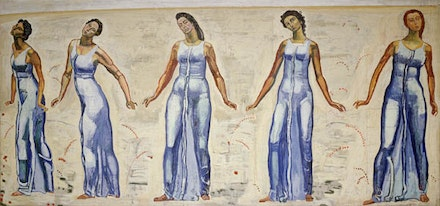 "Hodler, ""View to Infinity,"" 1916. Oil on canvas, 176 x 352"". Kunstmuseum Basel."