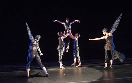 Korea National Contemporary Dance Company and Trey McIntyre Project in The Unkindness of Ravens. Photo Credit: Stephanie Berger.