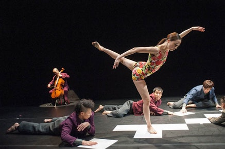 Yoonhee Lee of Korea National Contemporary Dance Company in Mosaic. Photo Credit: Stephanie Berger.
