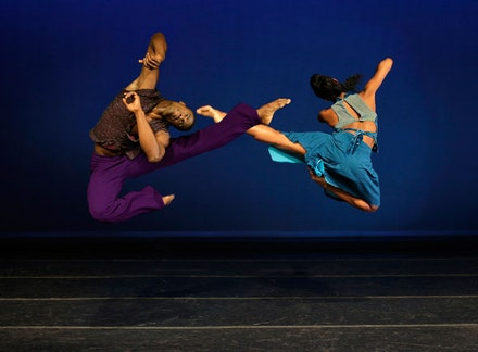 Alvin Ailey American Dance Theater's Jamar Roberts and Jacqueline Green in Kyle Abraham's <em>Another Night</em>. Photo: Paul Kolnik.