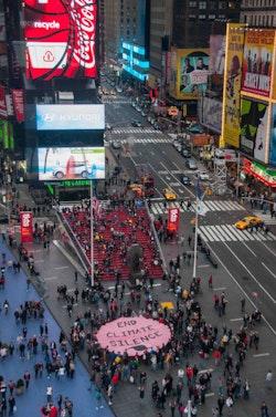 Times Square protestors.