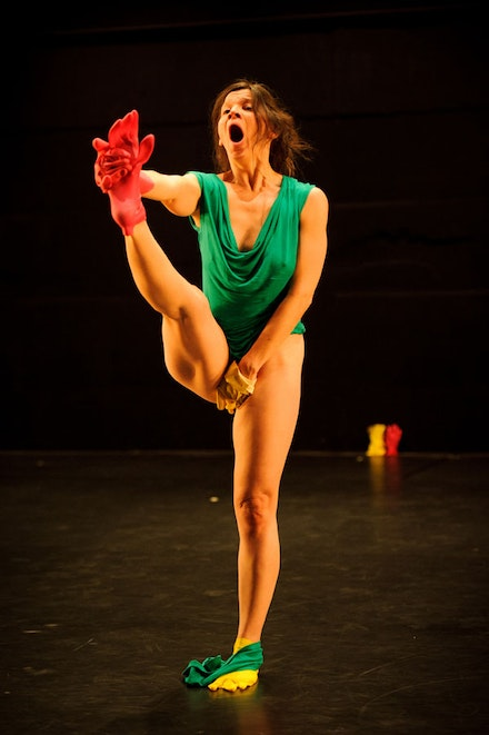 Michal Samama in <i>The Chicken Memorial</i>. Photo: Ian Douglas.