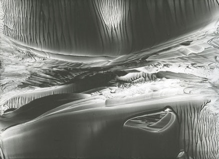 """Roland Flexner, """"Untitled,"""" 2012. Liquid graphite on yupo, 9 x 12"""". Frame size: 17 3/4 x 20 3/4"""". Courtesy of the artist and D'Amelio Gallery, NY."""