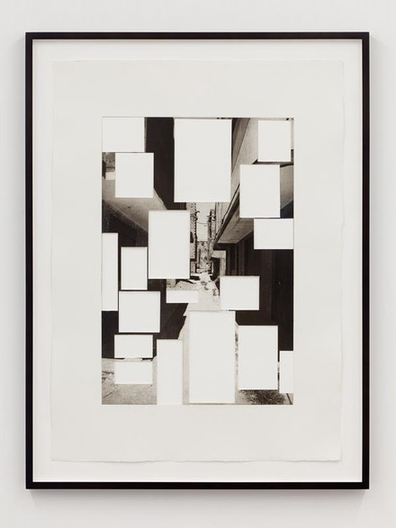 "Ishmael Randall Weeks, ""Cutout perspective 2,"" 2012. Photogravure print with cut-out mounted on paper, 31 x 21.25"". Courtesy of the artist and Eleven Rivington."