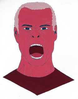 Henry Rollins. Illustration by Megan Piontkowski.