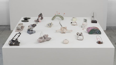 Installation Shot, Small Sculpture by Elisa Lendvay at Jason McCoy Gallery.