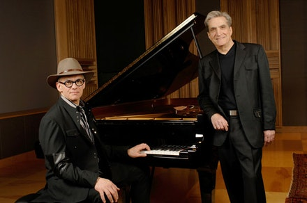 Pianist Laurence Hobgood and poet Robert Pinsky. Photo: Eric Antoniou.