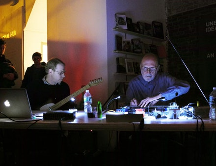 Michael Pisaro and Keith Rowe. Photo: Yuko Zama.