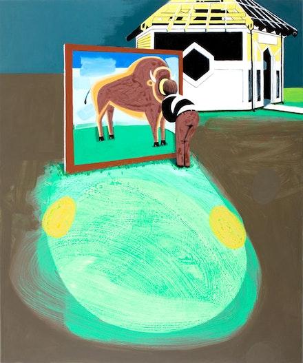 "David Humphrey, ""Cut Out,"" 2012. Acrylic on canvas, 72 x 60""."