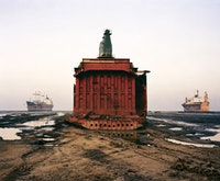 "Edward Burtynsky, ""Shipbreaking #49,"" Chittangong, Bangladesh, 2000, dye-coupler print, The Stonefields Collection."