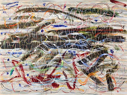 "Doug Argue, ""Drift Dive,"" 2013. Oil on canvas. 68 x 92"". Courtesy Doug Argue and Edelman Arts."