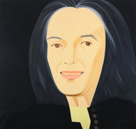 "Alex Katz, ""Ada,"" 2011. Oil on linen. 80 x 84"". Collection of the artist. Photography by Paul Takeuchi. On view January 15 to March 10, 2013 at the Yale School of Art. Art © Alex Katz/Licensed by VAGA, New York, NY"