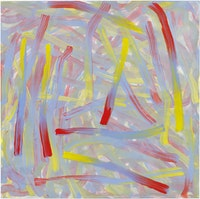"Bernard Frize, ""Shanten,"" 2012. Acrylic and resin on canvas, 63 x 63"