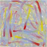 "Bernard Frize, ""Shanten,"" 2012. Acrylic and resin on canvas, 63 x 63"