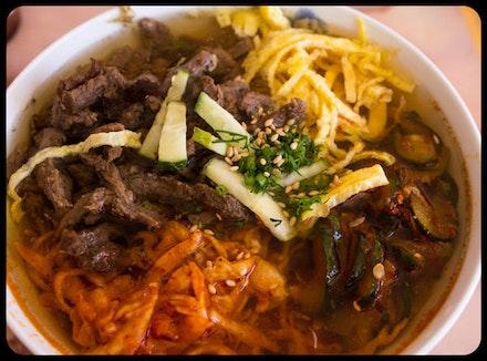 Bowl of <i>kuksu</i> at Elza Fancy Food.