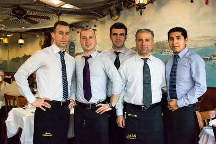 The Staff at Liman, a Turkish restaurant.