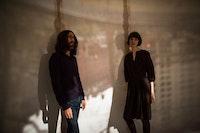 Luis Recoder and Sandra Gibson. Photo: Bryan Derballa.
