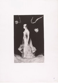 "<i>Odilon Redon, ""The Haunting,� 1893, published 1894, lithograph on chine appliqué. The Museum of Modern Art, New York, Gift of The Ian Woodner Family Collection, 2000 </i>"