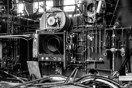 The engine that once powered the entire airfield now emits ghostly noises that evoke Brooklyn's industrial heyday.